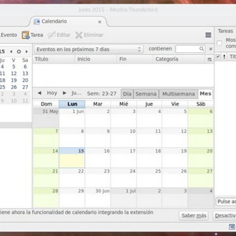 Thunderbird 38 incorpora el calendario Lightning por defecto.