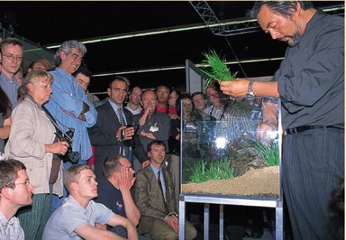 Sir Amano trong một buổi workshop về thủy sinh tại Đức