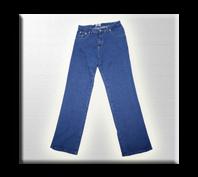 Pantalón en Jean de 14 Onzas prelavado.