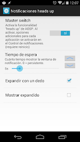 notificaciones flotantes