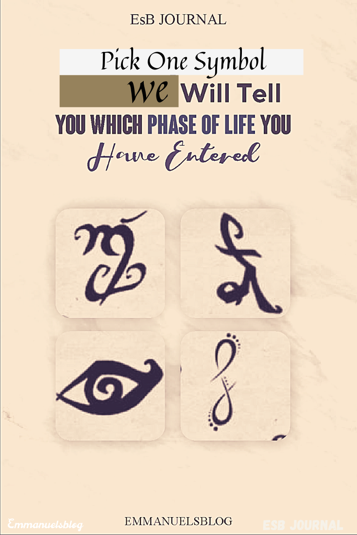 Pick One Symbol We Will  Tell You Which Phase of Life You Have Entered