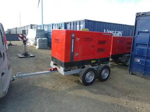 Photo: Generator pe remorca de santier - inchiriere turnuri eoliene
