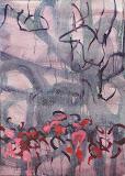 Giardini en rose et rouge 50X70, huile/toile 1