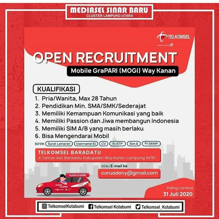 Lowongan Kerja Mobile Grapari Mogi Way Kanan Karir Bandar Lampung