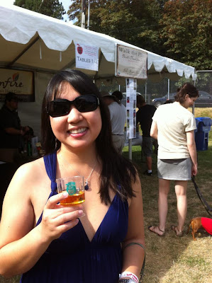 Attending Cider Summit with a sample of cider to try. The event is 21+ only, but dogs of all ages will be allowed