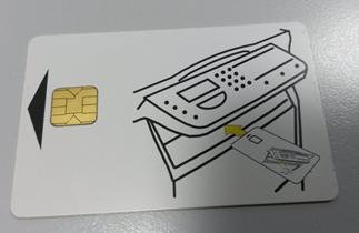Tarjeta con instrucciones de uso donde aparece la propia tarjeta