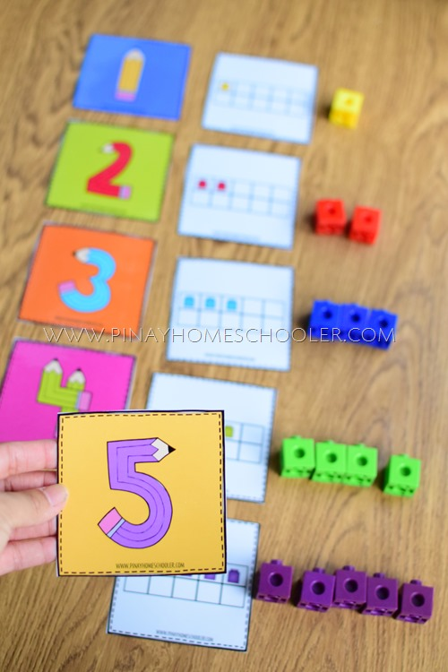 NUMBER AND TEN FRAMES MATCHING ACTIVITY