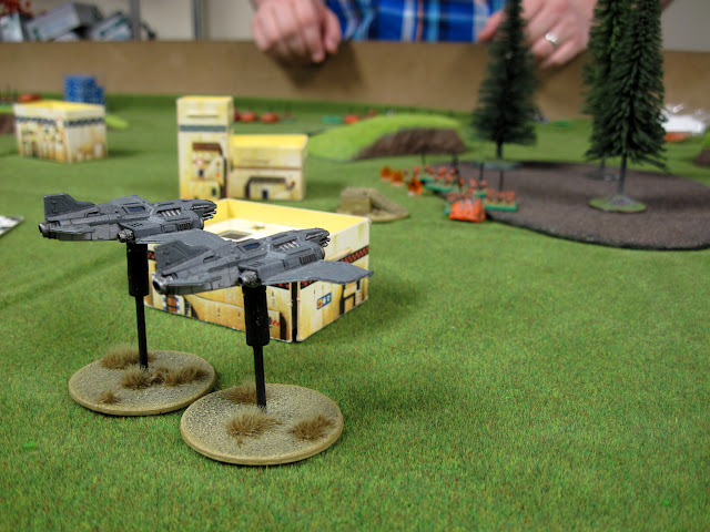 My Thunderbolt's straffe Chris R's Marines in the opening match.