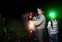 Documentacion de actividad de encuentro con fauna nocturna en la Hacienda La Esperanza.