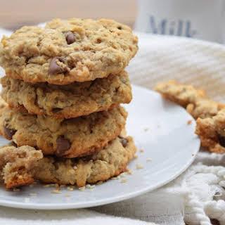 Vegan Peanut Butter Sesame Cookies.