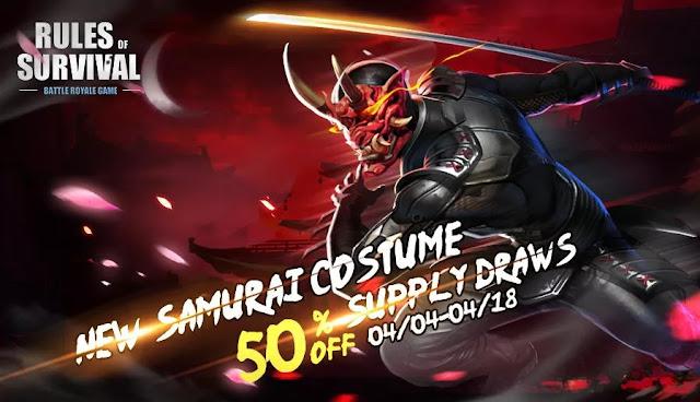 Yeni Kostüm Samuray Satışta - Rules of Survival