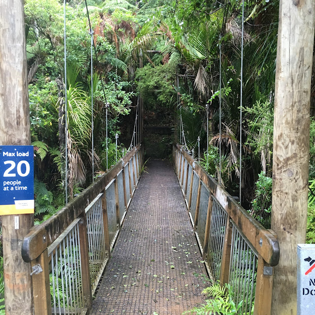 Bridge at the entry to the Waitakere Ranges National Park