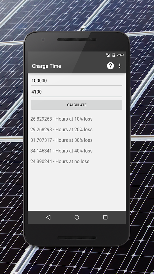 Renewable Energy Calculators- screenshot