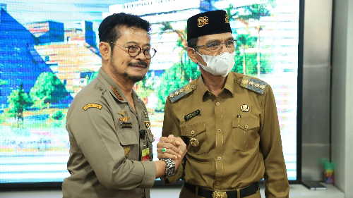 Bangun Sektor Pertanian di Limapuluh Kota, Bupati Safaruddin Temui Menteri Pertanian Syahrul Yasin Limpo
