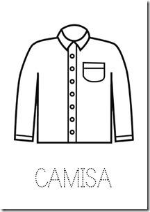 Camisa ropa dibujos colorear pintaryjugar  (15)