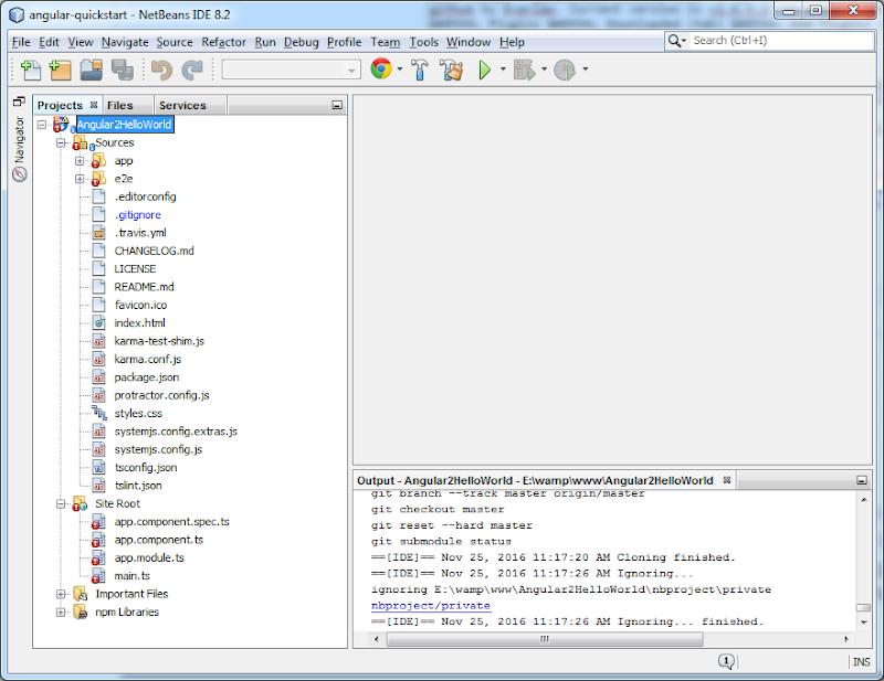 Angular 2 Netbeans import