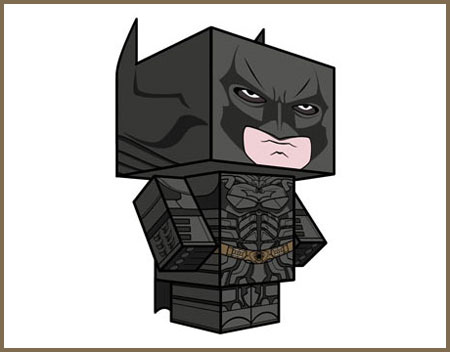 The Dark Knight Rises Batman Paper TOy