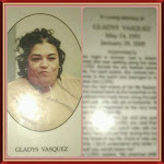 This was a photo of Gladys on her memorial brochure.