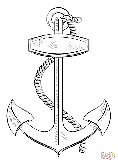Click The Anchor With Rope Coloring Pages To View Printable Version Or Color  It Online Patible With Ipad And Android Tablets
