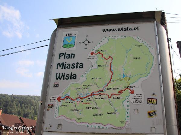Wisła - plan miasta