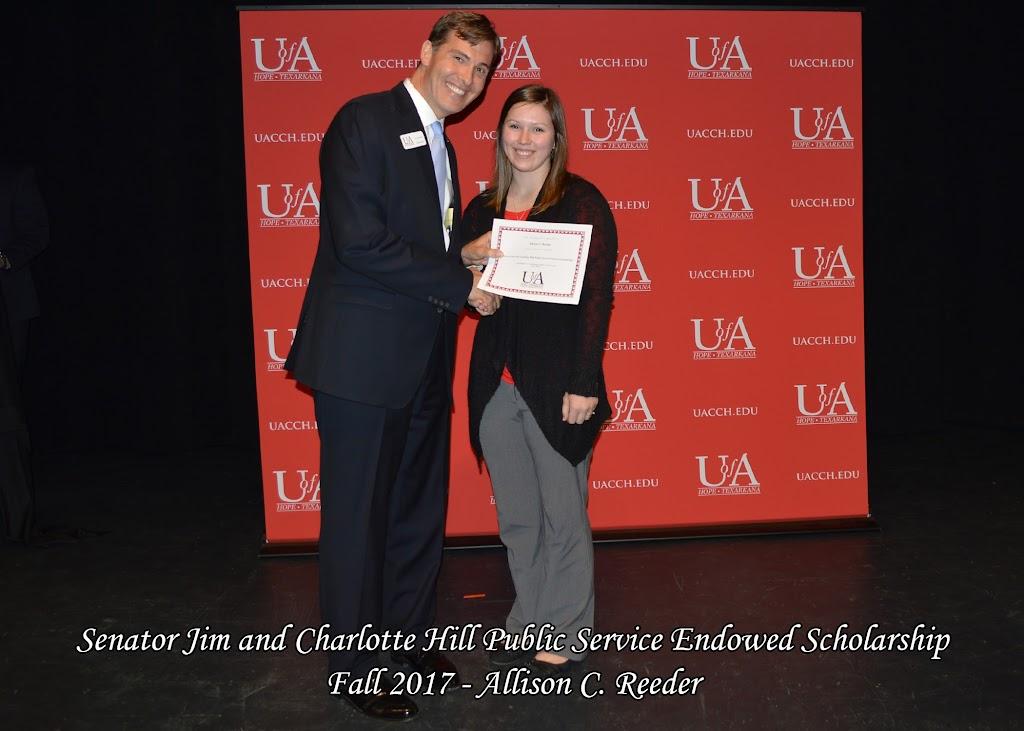 Fall 2017 Foundation Scholarship Ceremony - Senator%2BJim%2Band%2BCharlotte%2BHill%2BPublic%2BService%2BEndowed.jpg