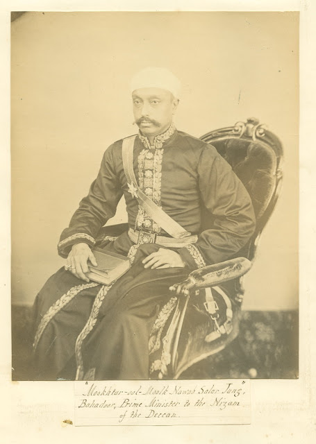The Nizam's indispensable Prime Minister, Sir Salar Jung (1829-83), in an undated photo