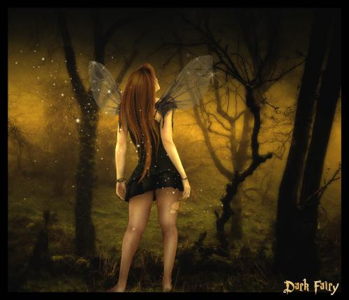 Dark Fairy In Forrest, Fairies Girls