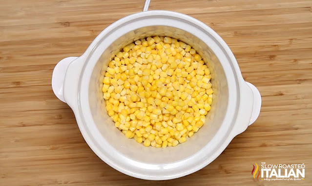 corn added to slow cooker