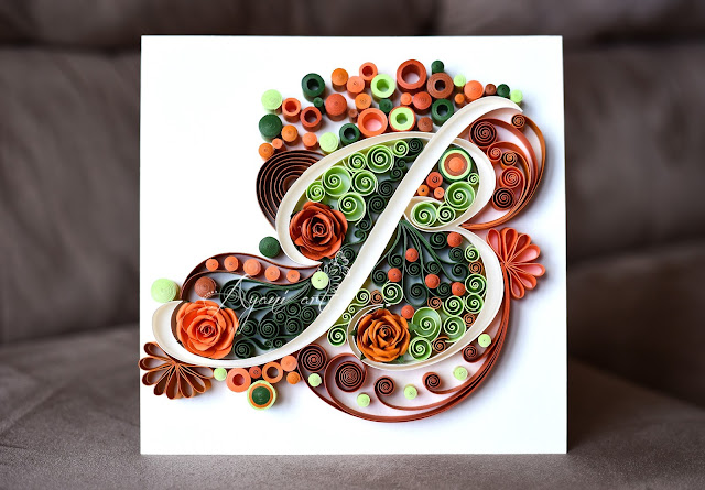 Quilling B Letter - Ayani art blog by Otilia
