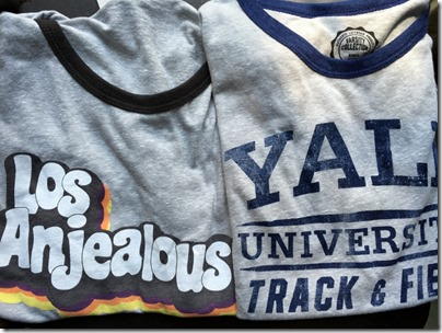 Cotton On grey tee Los Anjealous / Yale Track and Field