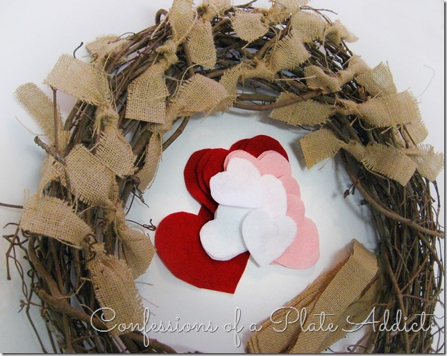 CONFESSIONS OF A PLATE ADDICT Easy Farmhouse Valentine Wreath tutorial