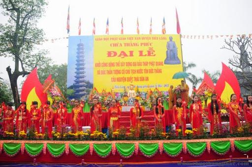 Chùa Thắng Phúc Đại lễ khởi công xây tháp Phật Quang