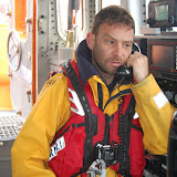 10 June 2012 - Geoff Fullerton on the VHF radio during the medical training exercise