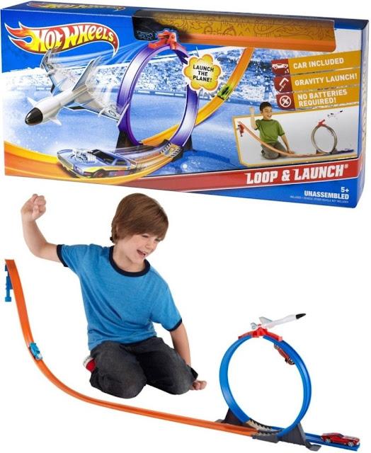 Mô hình Giải cứu phi cơ Hot Wheels City Track Set X2604 Phóng tên lửa