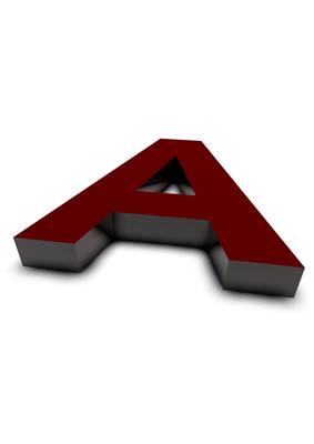 lettre 3D rouge de Chine - A - images libres de droit