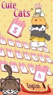 Creamy Chocolate Cat Keyboard theme - náhled