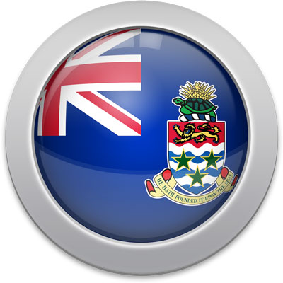 Caymanian flag icon with a silver frame