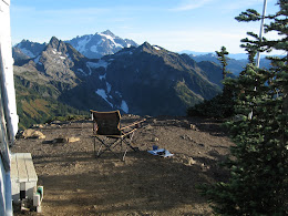 A few chairs are in the lookout... makes for easy camping.