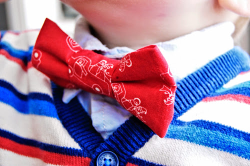 Red bow tie for little boys