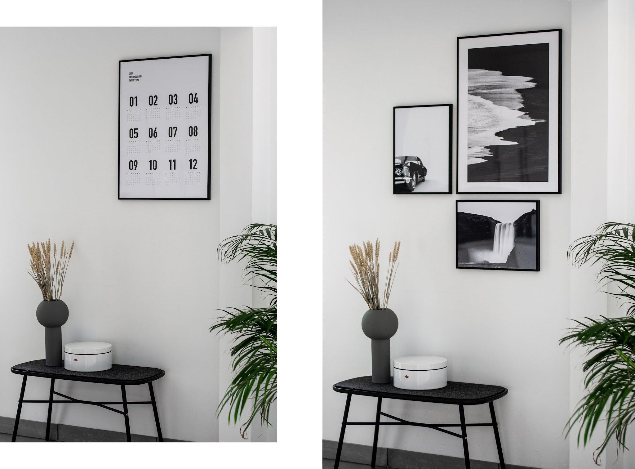 Desenio, posters, black white, minimal, zwart wit, black car, beach b&w, skogafoss waterefall