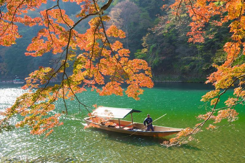 京都 嵐山 紅葉 写真3