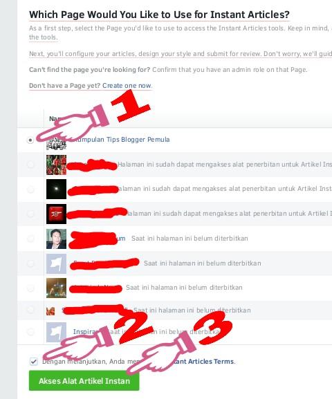 cara membuat instan artikel facebook untuk blogger