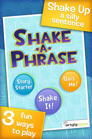 Shake-A-Phrase Main Page
