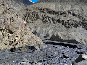 Mysteries of KKH, the black water stream is a combination of mud and rocks.