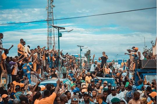 OsunDecides: How Davido Stole The Show At His Uncle, Adeleke's Campaign Rallies