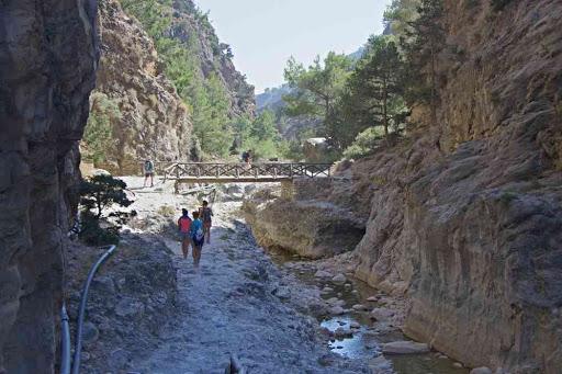 Sortie des gorges de Samaria (Φαράγγι Σαμαριάς).