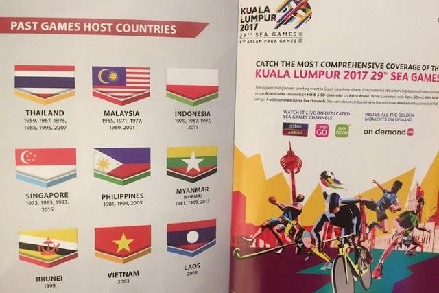 Bendera Indonesia Terbalik Cetakan Di Sukan SEA 2017