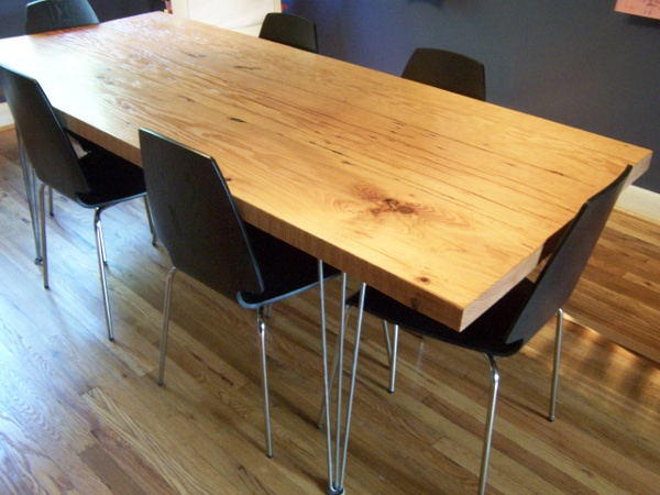 Make This: Reclaimed Modern Dining Table