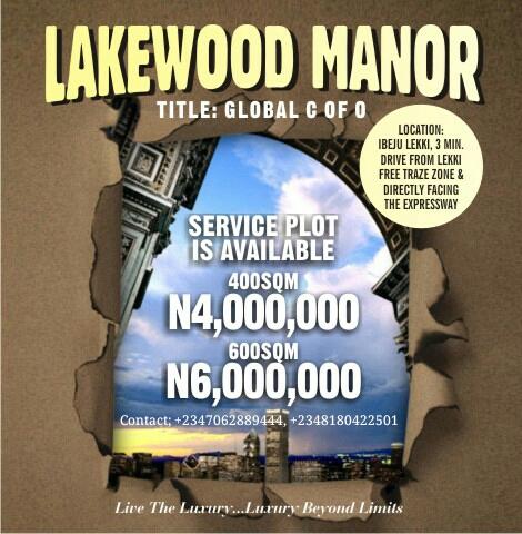 LAKEWOOD MANOR, IBEJU LEKKI, LAGOS (LAND AND HOUSES FOR SALE)