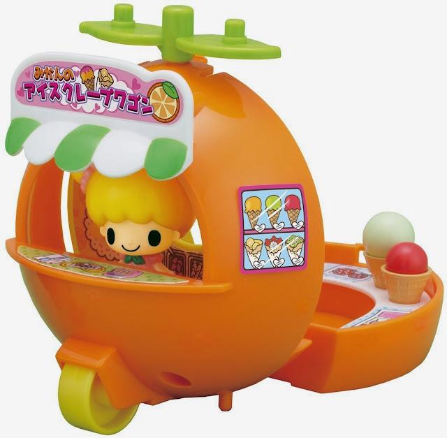 Xe bán kem hình quả cam Koeda chan trông rất tròn trĩnh, đáng yêu